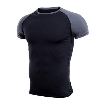 Elastic and Quick-Drying Men'S Fitness and Leisure Sports T-Shirt