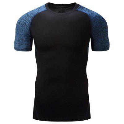 Fitness para homem Running Training Tight Short Sleeve T-shirt