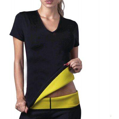 Fashion Short-sleeve Workout Weight Loss T-shirt