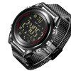 B1707 Android IOS Bluetooth Long Term Sports Meter Smart Electronic Watch - BLACK