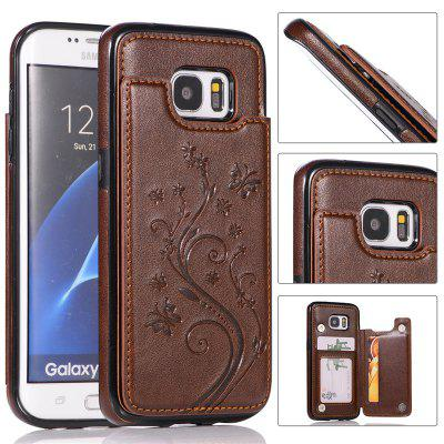 PU Leather Wallet Case Card Slot Cover for Samsung Galaxy S7 Edge