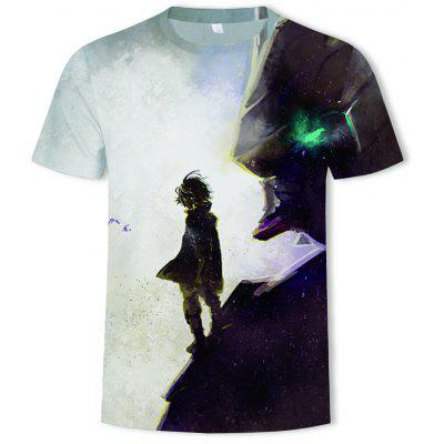 Lonely Boys in The Wind Printed Summer Men's Short-sleeved T-shirts