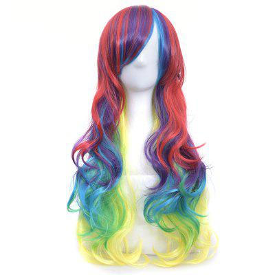 Gradient Color Harajuku Style Color Female Long Curly Hair Wig