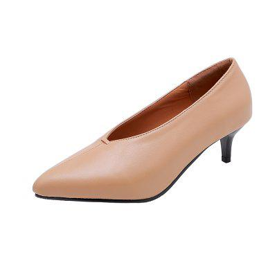 New Fashion Pointed Toe Pure Color Foot Sleeve Commuting Stilettos Lady Pumps