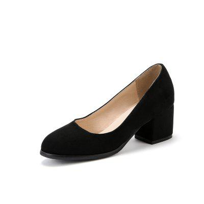 New Fashion Round Toe Dull Polish Pure Color Commuting Chunky lady Pumps (Gearbest) Wichita Buy goods