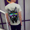 Music Cat Printed Summer Men's Short-sleeved T-shirt - MULTI
