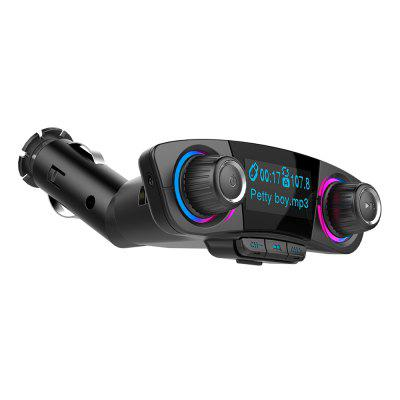 Double Head Car Bluetooth Mp3 with Double Knob Dazzle Light
