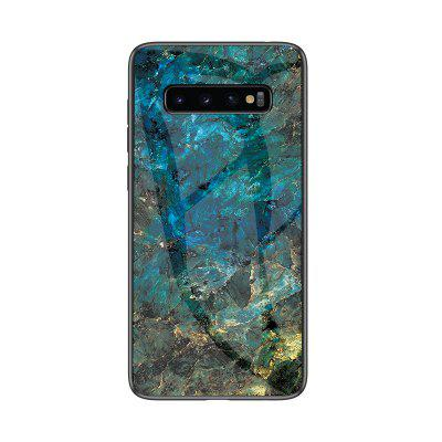 Marble Stone Printed Shockproof Slim Back Glass Case for Samsung Galaxy S10