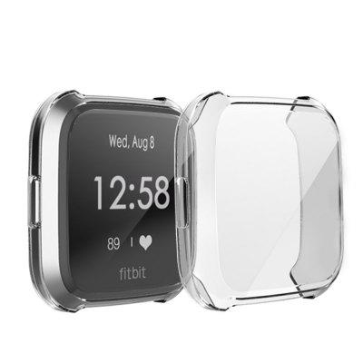 Soft TPU Full Case Screen Protector Cover for Fitbit Versa Lite Smart Watch