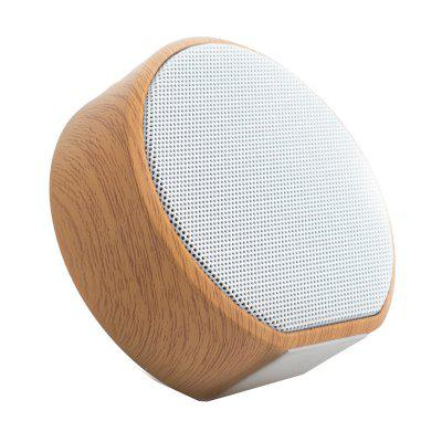 Wood Grain Wireless Bluetooth Speaker Portable Mini Subwoofer Support TF
