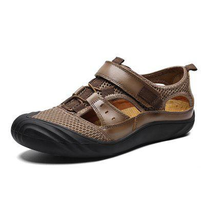 Men Comfortable Sandals with Two Layers of Cowhide