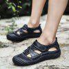 Men Comfortable Sandals with Two Layers of Cowhide - BLACK