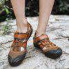 Men Comfortable Sandals with Two Layers of Cowhide - LIGHT BROWN