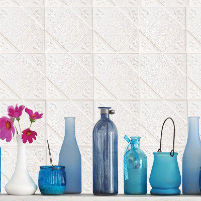 DIY PE Foam 3D Brick Self-adhesive Wall Sticker Baseboard Decor