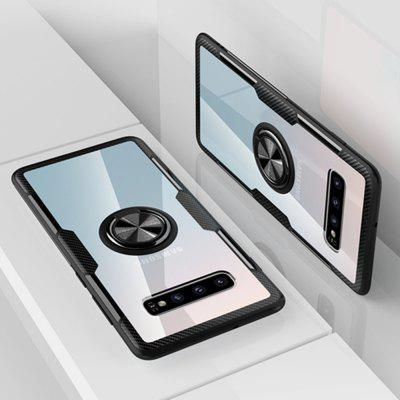 360 Degree Rotation Ring Magnetic Kickstand Clear Protective Case for Samsung S10 Plus