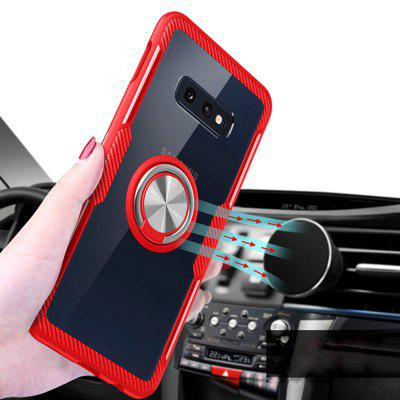360 Degree Rotation Ring Magnetic Kickstand Clear Protective Case for Samsung S10 E