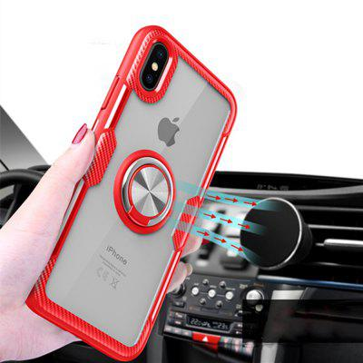 360 Degree Rotation Ring Magnetic Kickstand Clear Protective Case for iPhone XS Max