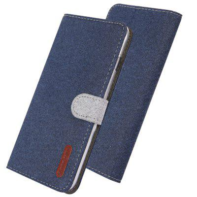 Luxury Wallet Flip Case Cloth Card Holder Phone Cover for iPhone 6 Plus / 6S Plus