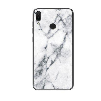 Marble Pattern Glass Back Hard Case Cover For Huawei Honor Play