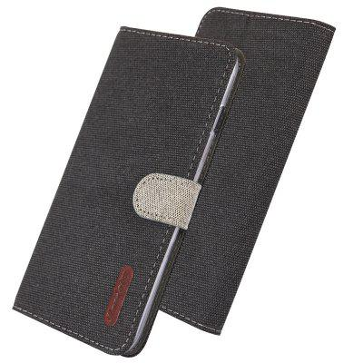 Luxury Cloth Leather Flip Wallet Phone Case for iPhone 5 / 5S / SE