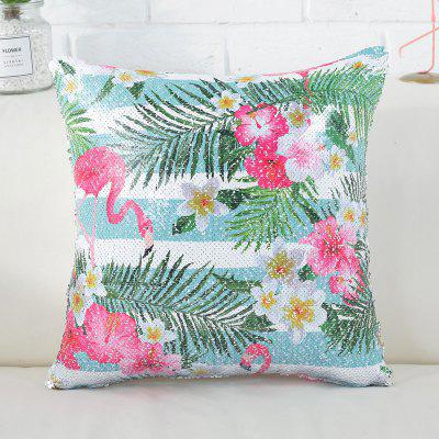Sequined Printed Flamingo Pillowcase Nordic Wind Fashion Pillow Cover