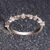 Women Fashion Exquisite Small 14K Gold Small Diamond Silver Ring - ROSE GOLD