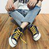 Summer Rubber Sole Lightweight High-top Canvas Shoes Men - BLACK