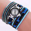 Duoya Stylish Women Casual Stainless Steel Round Dial Bracelet Quartz Watch - MULTI-G
