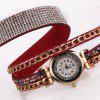 Duoya Fashion Ladies Dress Crystal Bracelet Orologio da uomo d'affari vintage - MULTI COLORI-I