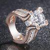 Femmes nobles de la mode femmes 18K Rose Gold Filled White Diamond Wedding Jewelry Ring - OR DE ROSE