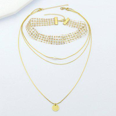 Fashion Jewelry Sequined Mesh Yarn Multi-layer Necklace 2pcs