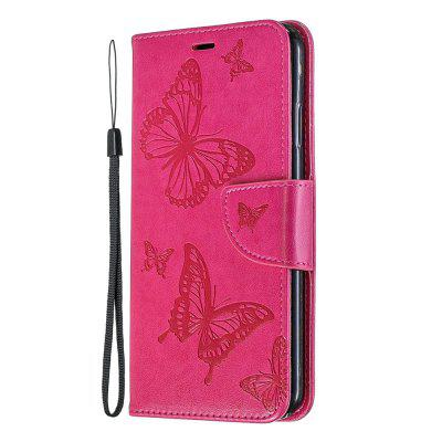 Embossing Butterfly Pattern Solid Color Phone Case for iPhone XS Max