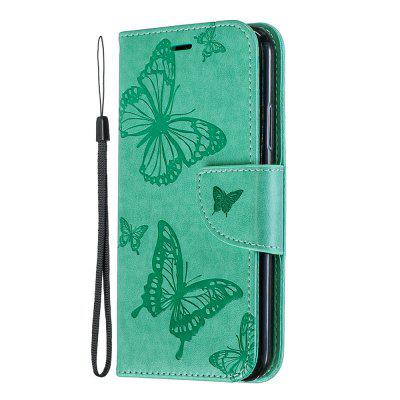 Embossing Butterfly Pattern Solid Color Phone Case for iPhone XS/X