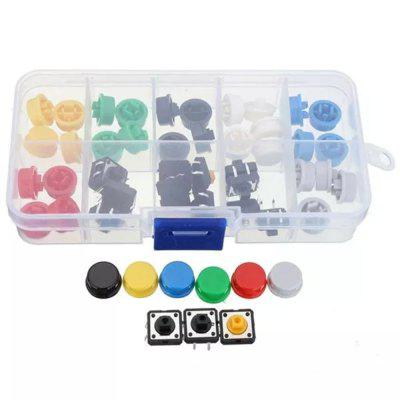 Tactile Push Button Switch Momentary Tact Cap Assorted Kit