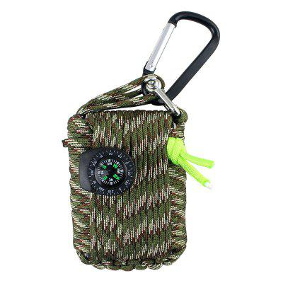 24-in-1 Outdoor Umbrella Rope Emergency Rescue Kit for Camping