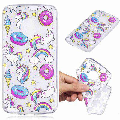 Dessert Horse Pattern Soft TPU Phone Case for MOTO G5