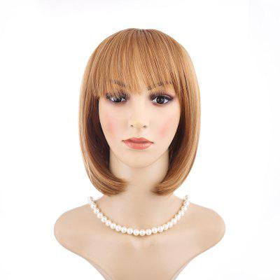 Short Gold Hairstyle Party Role Playing Film Wig