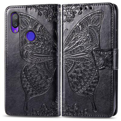 Butterfly Pattern Embossing PU Leather Wallet Phone Case für Xiaomi Play