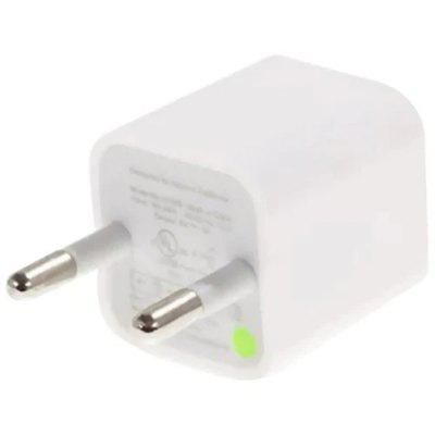 EU Plug USB Charger AC Adapter - White