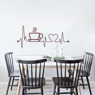 Creative Coffee Cup Removable PVC Wall Sticker