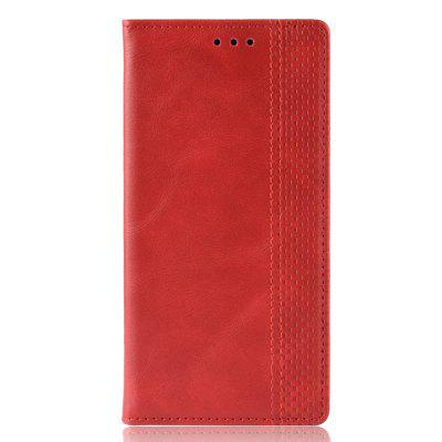 Magnetic Buckle Vintage Leather Case for Redmi 7