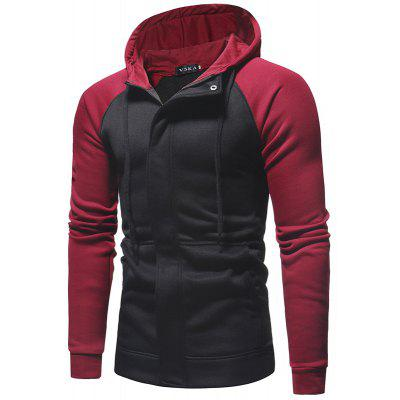 Dark Door Men Casual Slim Zipper Cardigan Mit Kapuze Pullover