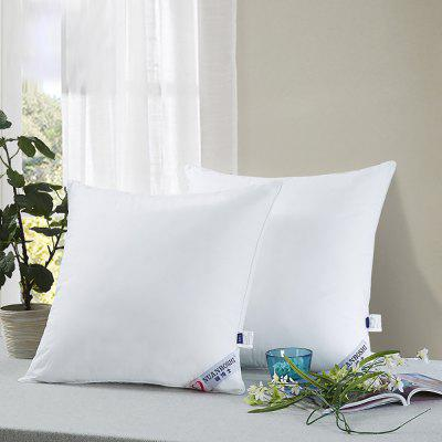 NUANBOSHI Feather Velvet Pillow Comfort Cushion 2pcs