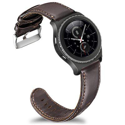 Leather Watch Band Strap for Samsung Gear S2 Classic / Sport / Ticwatch 2 / E