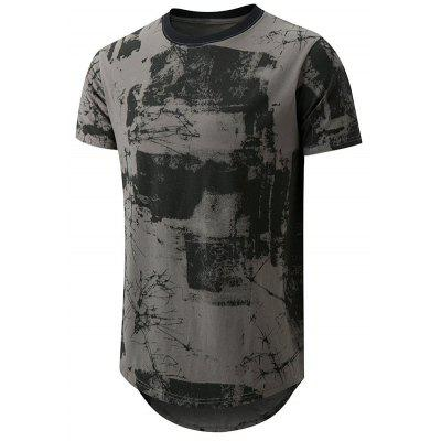2019 Men's New Summer Casual T-Shirt Trend Male Short-Sleeved Printed T-shirt