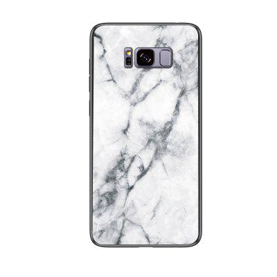 Marble Shockproof Slim Back Glass Phone Case for Samsung Galaxy S8 Plus
