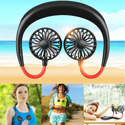 Mini Cooling Wireless Neck Hanging for Sport Portable Rechargeable Fan
