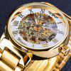 WINNER Men Fashion Flower Carving Stainless Steel Mechanical Watch - MULTI-B