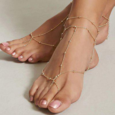 Fashion Rice Bead Chain Anklet 1PC