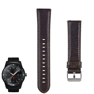 Leather Watch Band Strap for LG G Watch W100 W110 W150 / Pebble Time / Steel